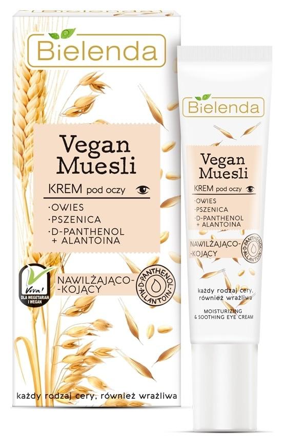 Крем для кожи вокруг глаз увлажняющий и успокаивающий Пшеница + Овёс + Д-пантенол + Аллатоин  Bielenda