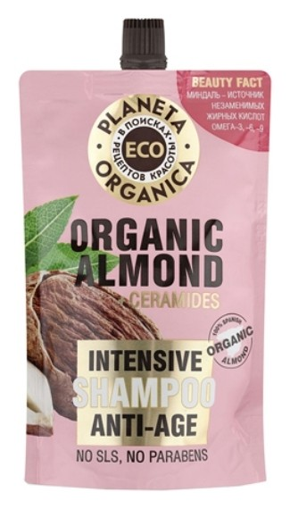 Шампунь для молодости волос Eco Organic almond  Planeta Organica