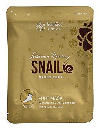 Маска-носки для ног Интенсивно-восстанавливающая Улитка Snail Foot Mask  AsiaKiss