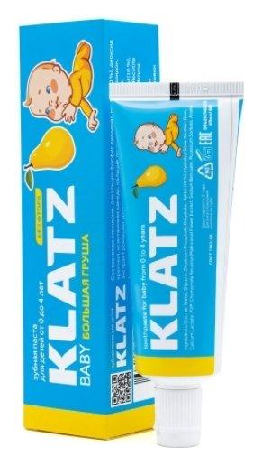 Зубная паста для детей без фтора Большая груша  Klatz