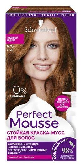 Краска-мусс стойкая для волос Perfect Mousse  Schwarzkopf Professional
