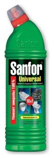 Средство для чистки и дезинфекции Лимонная свежесть 10в1  Sanfor