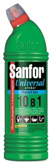 Средство для чистки и дезинфекции Морской бриз 10в1  Sanfor