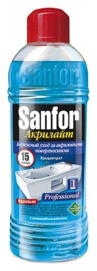 Гель для чистки акриловых ванн   Sanfor