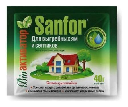 Средство антибактериальное для выгребных ям и септиков  Sanfor