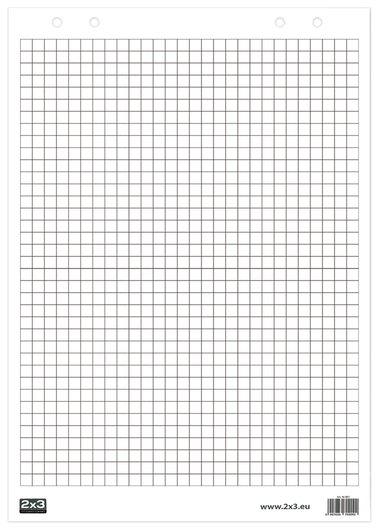 """Блокнот для флипчарта """"2х3"""" (""""дважды три"""", польша), 30 листов, клетка, 58х83 см, B01  2x3"""