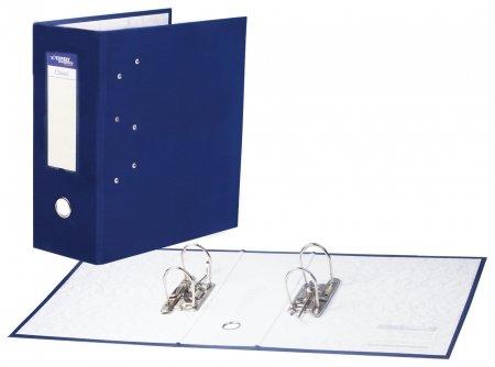 Папка-регистратор с двумя арочными механизмами (До 800 листов), покрытие пвх, 125 мм, синяя  NNB