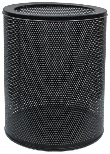 Корзина металлическая для мусора титан, 16 литров, перфорированная, черная, оцинкованная сталь, 415  NNB
