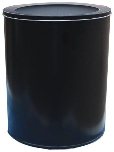 Корзина металлическая для мусора титан, 16 литров, цельная, черная, оцинкованная сталь, 416  NNB
