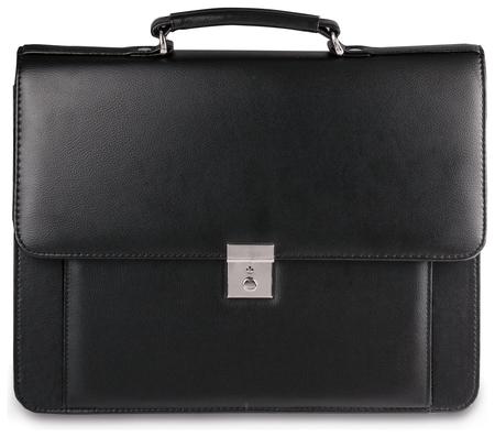 """Портфель """"Проект"""", 38х28,5х10 см, искусственная кожа, 2 отделения, замок с ключом, черный, 200  Алекс"""