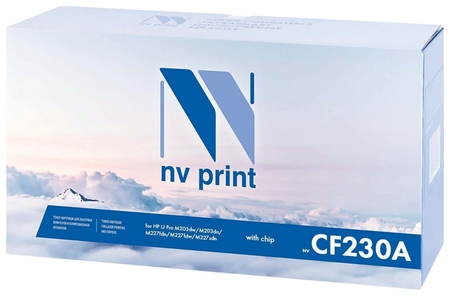 Картридж лазерный NV Print (Nv-cf230a) для HP Laserjetpro M227fdw/m227sdn/m203dn, ресурс 1600 стр.  Nv print