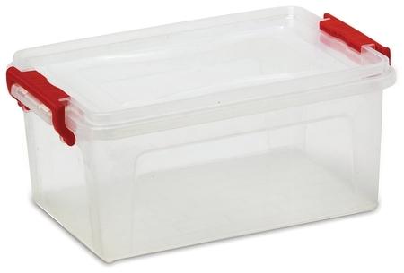 Ящик 25 л, с крышкой на защелках, для хранения, 24х48х32 см, пластиковый, прозрачный, Idea, м2867  Idea