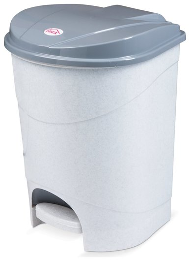 Ведро-контейнер 19 л, с крышкой и педалью, для мусора, 38х29х30 см, серое, Idea, м2892  Idea