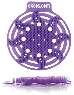 """Коврики-вставки для писсуара, экос (Power-screen), на 30 дней каждый, комплект 2 шт., аромат """"Ягода"""", цвет пурпурный, Pwr-1p  Ekcos"""