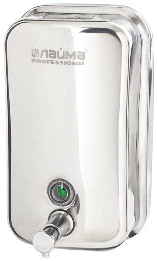 Диспенсер для жидкого мыла Laima Professional Inox (Гарантия 3 года), 1 л, нержавеющая сталь, зеркальный, 605393  Лайма
