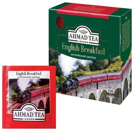 "Чай Ahmad (Ахмад) ""English Breakfast"", черный, 100 пакетиков по 2 г, 600i-08  Ahmad Tea"