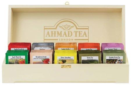 """Чай Ahmad (Ахмад) """"Contemporary"""", набор в деревянной шкатулке, 10 вкусов по 10 пакетиков по 2 г, Z583-1  Ahmad Tea"""