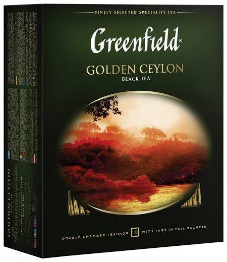"""Чай Greenfield (Гринфилд) """"Golden Ceylon"""", черный, 100 пакетиков в конвертах по 2 г, 0581  Greenfield"""