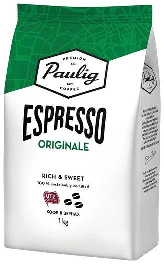 Кофе в зернах Paulig (Паулиг) Espresso Originale, натуральный, 1 кг, вакуумная упаковка, 16727 Paulig
