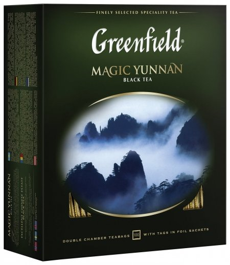 """Чай Greenfield (Гринфилд) """"Magic Yunnan"""" (""""волшебный юньнань""""), черный, 100 пакетиков в конвертах по 2 г, 0583-09  Greenfield"""