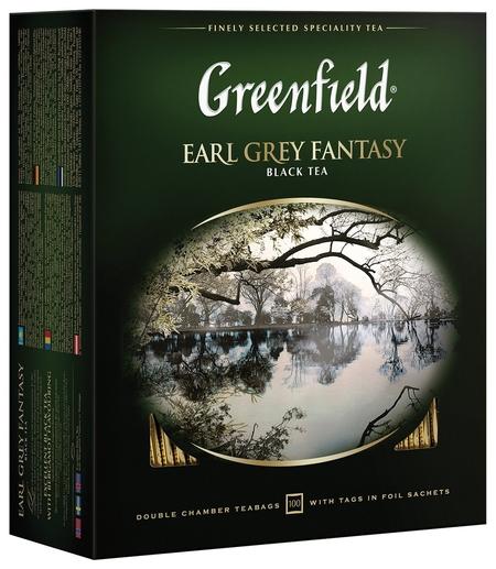 """Чай Greenfield (Гринфилд) """"Earl Grey Fantasy"""", черный с бергамотом, 100 пакетиков в конвертах по 2 г, 0584-09  Greenfield"""