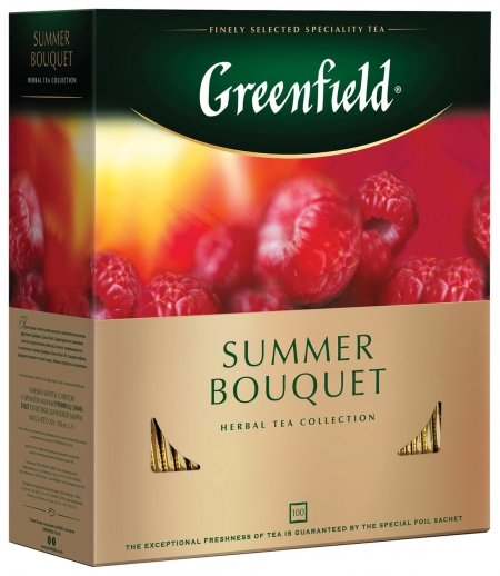 """Чай Greenfield (Гринфилд) """"Summer Bouquet"""" (""""летний букет""""), травяной, 100 пакетиков в конвертах по 2 г, 0878-09  Greenfield"""