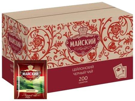 Чай майский черный, 200 пакетиков в конвертах по 2 г, 101009  Майский