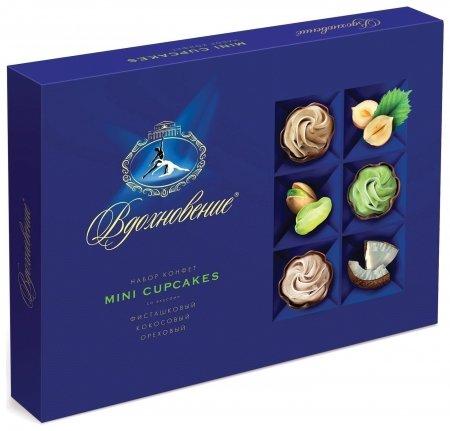 Конфеты шоколадные маленькие пирожные Вдохновение  Красный октябрь