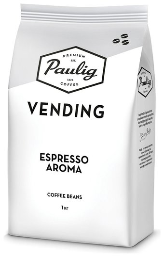 """Кофе в зернах Paulig (Паулиг) """"Vending Espresso Aroma"""", натуральный, 1000 г, вакуумная упаковка, 16377  Paulig"""