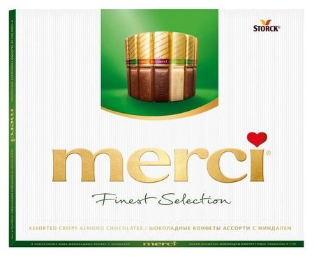 Конфеты шоколадные из шоколада с миндалем Merci  Merci