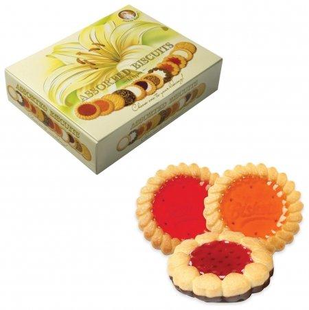 """Печенье бискотти (Россия) """"Santa Bakery"""", 12 видов, сдобное, 750 г, картонная коробка  Бискотти"""