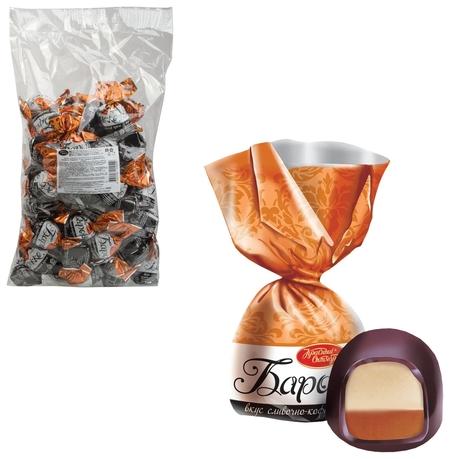 """Конфеты шоколадные красный октябрь """"Барокко"""", сливочно-кофейный крем, 1000 г, пакет, ко13343  Красный октябрь"""