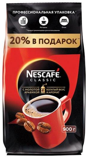 Кофе растворимый Nescafe Classic, 900 г, мягкая упаковка, 11623339 Nescafe