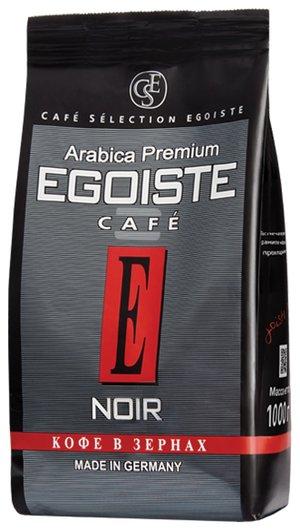 """Кофе в зернах Egoiste """"Noir"""", натуральный, 1000 г, 100% арабика, вакуумная упаковка, 12621  Egoiste"""