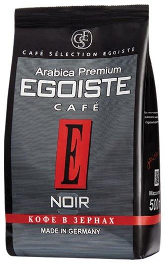 """Кофе в зернах Egoiste """"Noir"""", натуральный, 500 г, 100% арабика, вакуумная упаковка, 10229  Egoiste"""