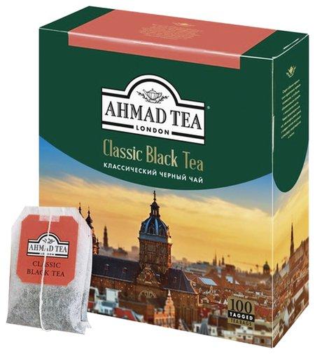 """Чай Ahmad """"Classic Black Tea"""", черный, 100 пакетиков с ярлычками по 2 г, 1665-08  Ahmad Tea"""