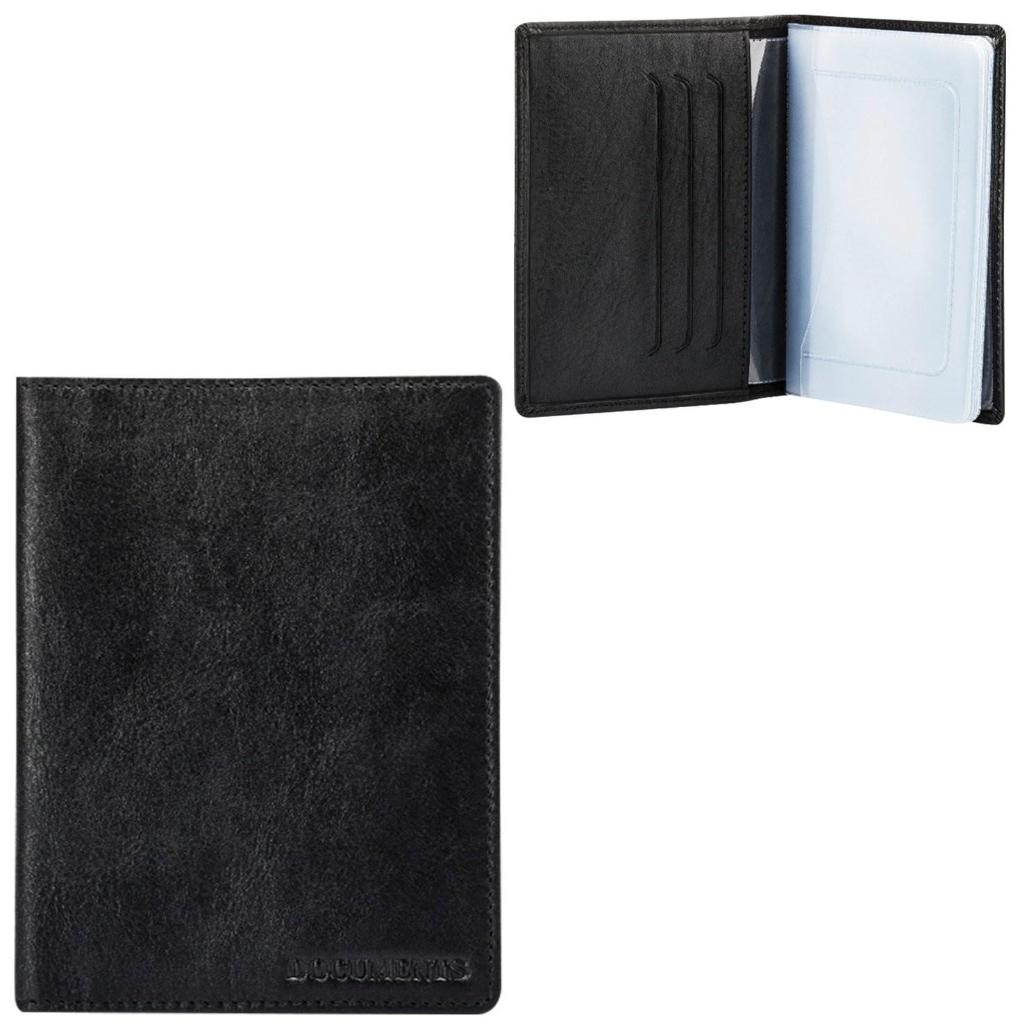 """Бумажник водителя Fabula """"Estet"""", натуральная кожа, тиснение, 6 пластиковых карманов, черный, Bv.36.mn  Fabula"""