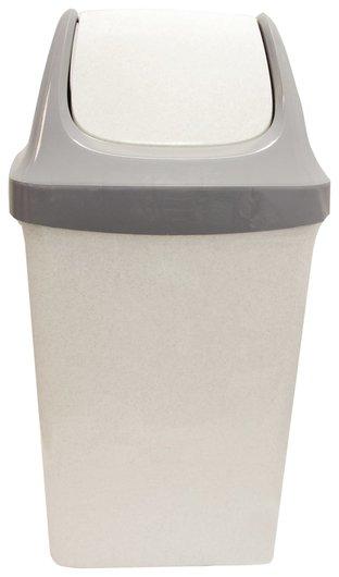 """Ведро-контейнер 25 л, с крышкой (Качающейся), для мусора,""""Свинг"""", 58х32х28 см, серое, Idea, М 2463  Idea"""
