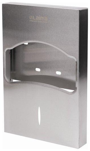 Диспенсер для покрытий на унитаз Laima Professional Inox, 1/4 сложения, нержавеющая сталь, матовый, 605704  Лайма