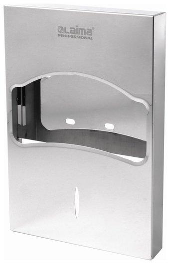Диспенсер для покрытий на унитаз Laima Professional Inox, 1/4 сложения, нержавеющая сталь, зеркальный, 605705 Лайма
