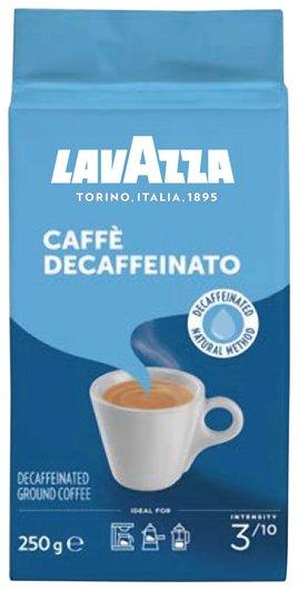 "Кофе молотый Lavazza ""Caffe Decaffeinato"", без кофеина, 250 г, вакуумная упаковка, 1000  Lavazza"