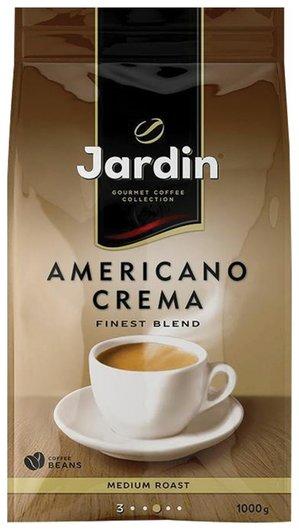 """Кофе в зернах Jardin (Жардин) """"Americano Crema"""", натуральный, 1000 г, вакуумная упаковка, 1090-06-н  Jardin"""