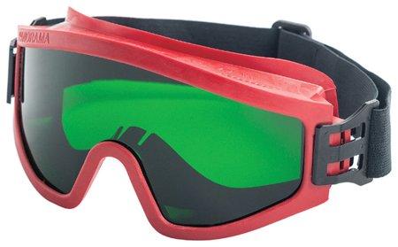 Очки защитные закрытые росомз ЗП2 Super Panorama, зеленые, прямая вентиляция, незапотевающее покрытие, ацетат целлюлозы, 30228  Росомз