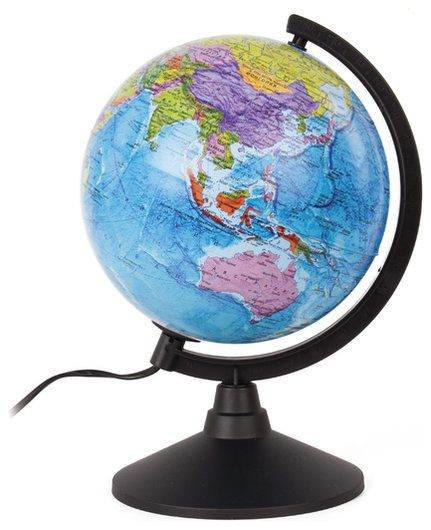 Глобус политический Globen Классик, диаметр 210 мм, с подсветкой, к012100010 Globen