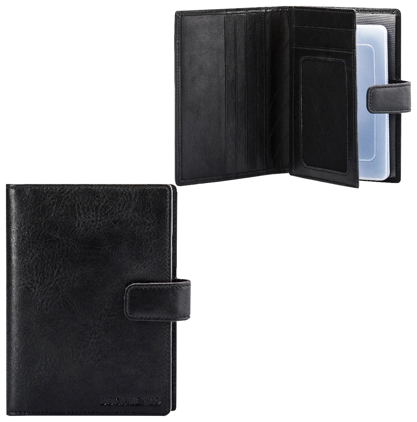 """Бумажник водителя Fabula """"Estet"""", натуральная кожа, тиснение, 6 пластиковых карманов, кнопка, черный, Bv.7. MN  Fabula"""