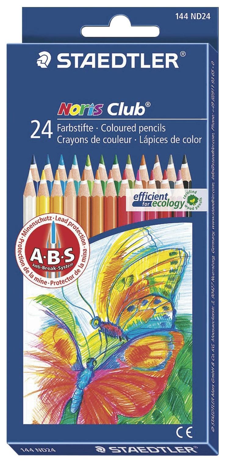 Карандаши цветные Staedtler (Германия) Noris Club, 24 цвета, заточенные, европодвес, 144 Nd24 Staedtler
