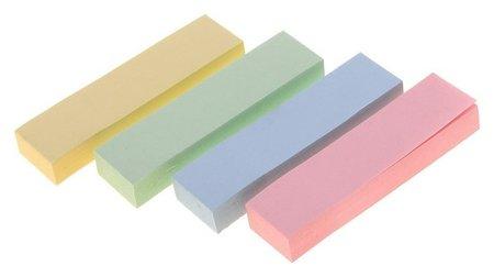 Закладки с клеевым краем, 4 цвета по 100 листов, пастель  Calligrata