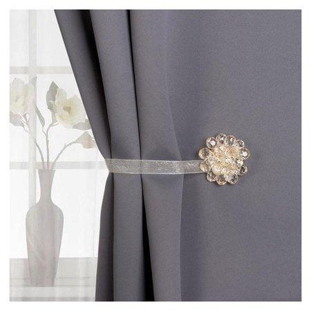 Подхват для штор «Гроздь», D = 4,5 см, цвет бежевый  Арт узор