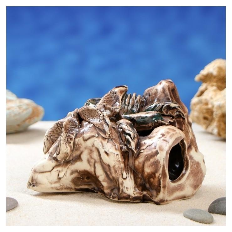 Декорация для аквариума скала малая, 8 см Керамика ручной работы
