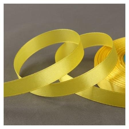 Лента атласная, 12 мм × 33 ± 2 м, цвет жёлтый №015  Gamma